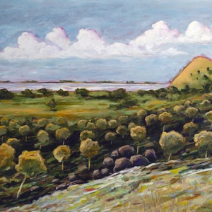 (CreativeWork) Landscape by Julie McKenzie. arcylic-painting. Shop online at Bluethumb.