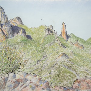 (CreativeWork) Macha Tor View  by Boyd McMillan. drawing. Shop online at Bluethumb.