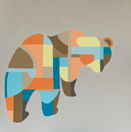 (CreativeWork) Bear Bum by Jacqi Russo. arcylic-painting. Shop online at Bluethumb.