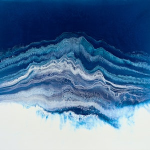(CreativeWork) Arctic Ice by Martine Vanderspuy. resin. Shop online at Bluethumb.