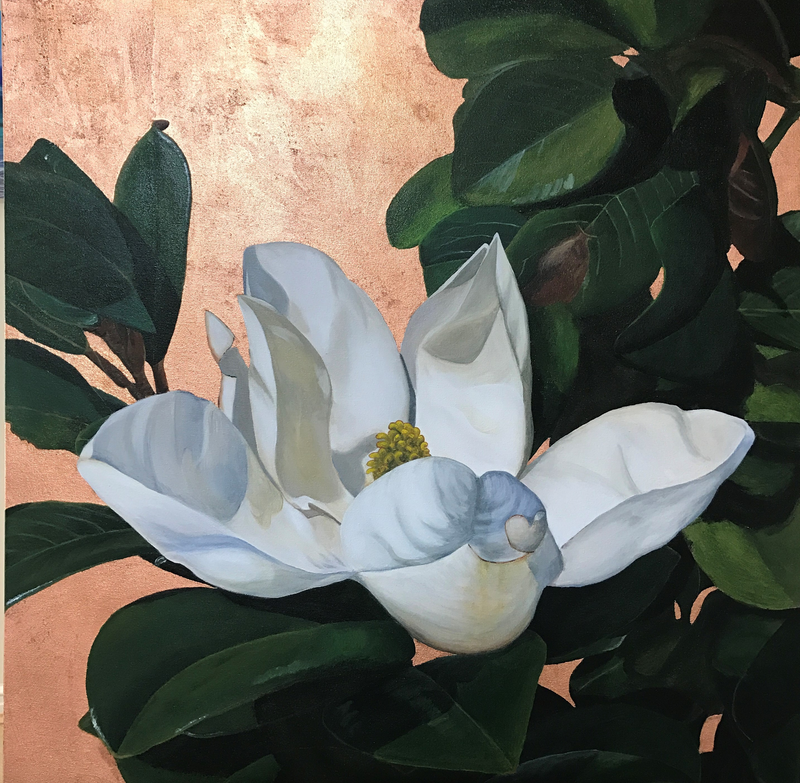 (CreativeWork) Steel Magnolia by Hayley Kruger. mixed-media. Shop online at Bluethumb.