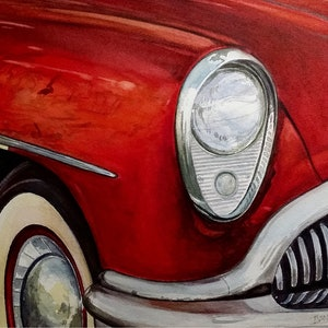 (CreativeWork) Buick by Ivan McClennan. watercolour. Shop online at Bluethumb.
