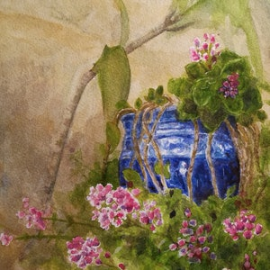 (CreativeWork) Blue pot by Ivan McClennan. #<Filter:0x00007fc064729440>. Shop online at Bluethumb.