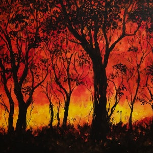 (CreativeWork) Grass fire by Ivan McClennan. #<Filter:0x00007f97b81428f8>. Shop online at Bluethumb.