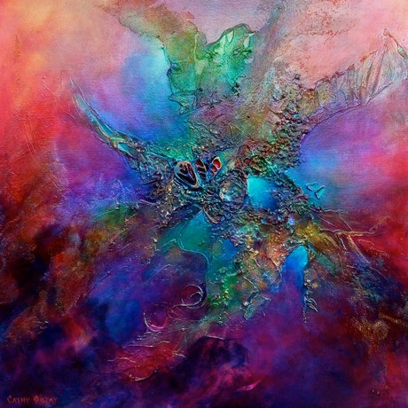 (CreativeWork) Diving Into Colour by Cathy Gilday. Mixed Media. Shop online at Bluethumb.