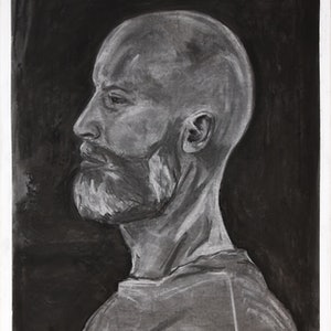 (CreativeWork) Charcoal Sailor by Marc Bergmann. drawing. Shop online at Bluethumb.