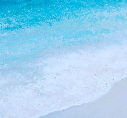 (CreativeWork) Turquoise Ocean by Jan Matson. Oil Paint. Shop online at Bluethumb.