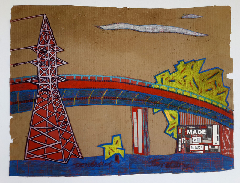 (CreativeWork) Contested Territory  by Tim Fry. drawing. Shop online at Bluethumb.