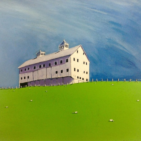 (CreativeWork) BARN  by LOUISE GROVE WIECHERS. Acrylic Paint. Shop online at Bluethumb.