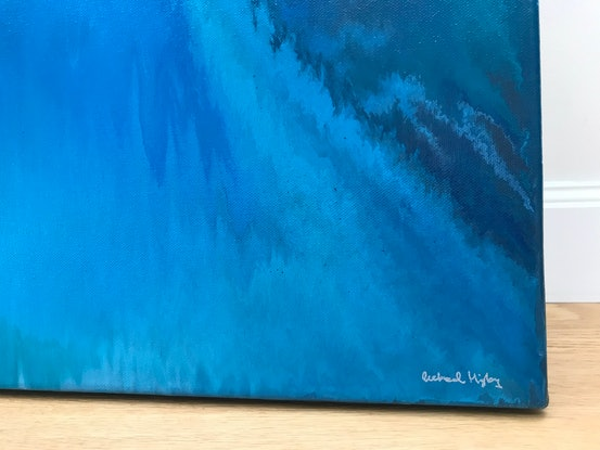 (CreativeWork) Emerald City by Rachael Higby. Acrylic Paint. Shop online at Bluethumb.
