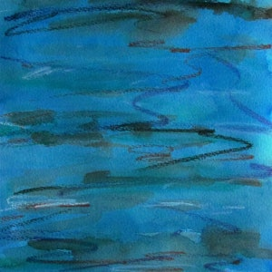 (CreativeWork) Tidal Flows 1 by Jazmin Wilkins. mixed-media. Shop online at Bluethumb.
