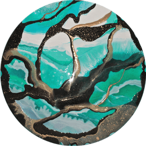 (CreativeWork) HAZE by Jenny Dumont. Resin. Shop online at Bluethumb.