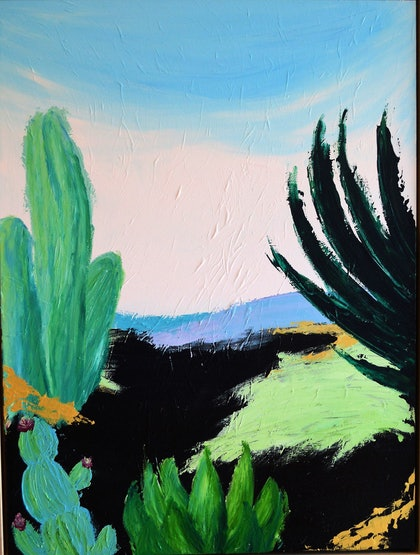(CreativeWork) Baja by Christopher Broome. arcylic-painting. Shop online at Bluethumb.