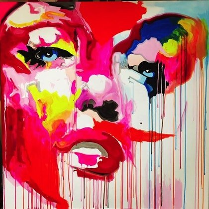 (CreativeWork) Goodbye Norma Jean by PHIL HODGSON. arcylic-painting. Shop online at Bluethumb.