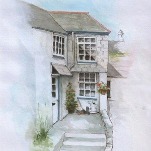 (CreativeWork) Polperro, Cornwall, England. by John N Mason. arcylic-painting. Shop online at Bluethumb.