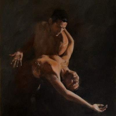 (CreativeWork) Dépendance by Fred Whitson. oil-painting. Shop online at Bluethumb.