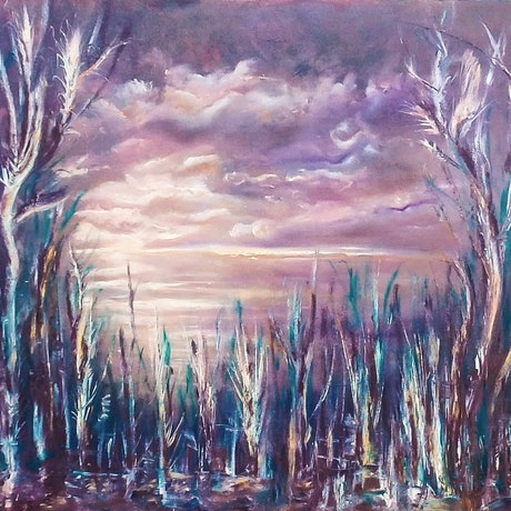 (CreativeWork) Twilight  by Meri Andric. Oil Paint. Shop online at Bluethumb.