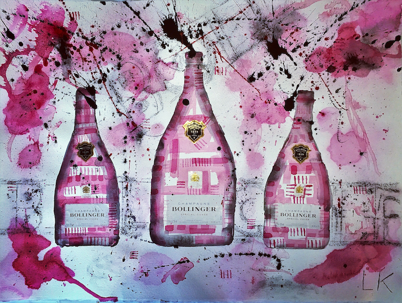 (CreativeWork) Bollinger Trio by Leith Kennedy. mixed-media. Shop online at Bluethumb.