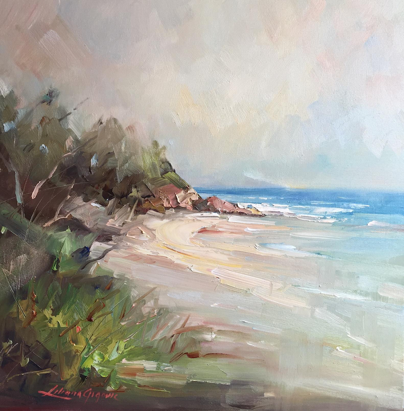 (CreativeWork) Mt Martha beach #2 by Liliana Gigovic. oil-painting. Shop online at Bluethumb.