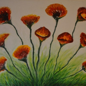 (CreativeWork) In Bloom by Maria Kunnumpurath. arcylic-painting. Shop online at Bluethumb.