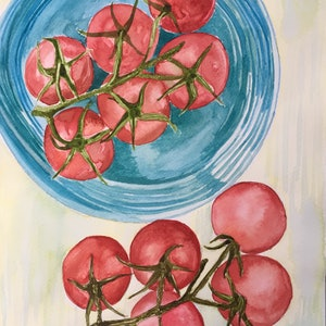 (CreativeWork) Fresh Redness by Claudia Rojas. watercolour. Shop online at Bluethumb.