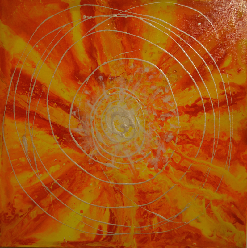 (CreativeWork) Sunshine by Maria Kunnumpurath. arcylic-painting. Shop online at Bluethumb.