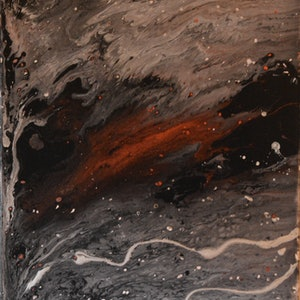 (CreativeWork) Midnight Sky 1 by Maria Kunnumpurath. arcylic-painting. Shop online at Bluethumb.