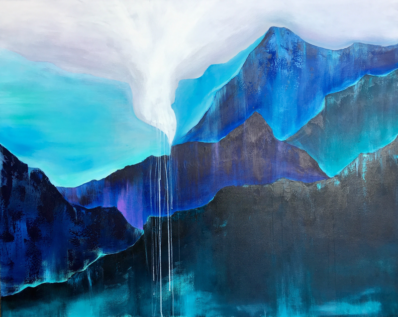(CreativeWork) FEARLESS (152x122cm) by Kat Las. arcylic-painting. Shop online at Bluethumb.