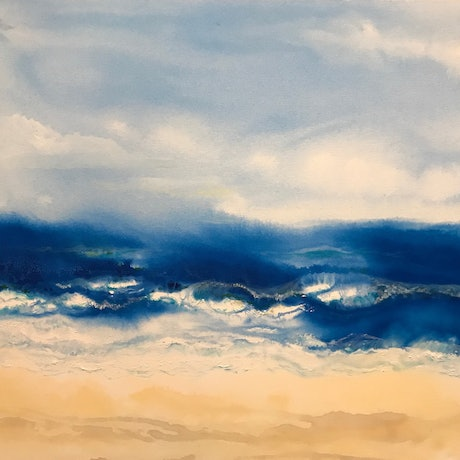 (CreativeWork) Summer's Nearly Over by Jackie Peach. Acrylic Paint. Shop online at Bluethumb.