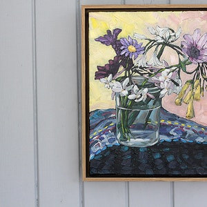 (CreativeWork) Garden pickings on Waiheke Island by Kate Quinn. oil-painting. Shop online at Bluethumb.