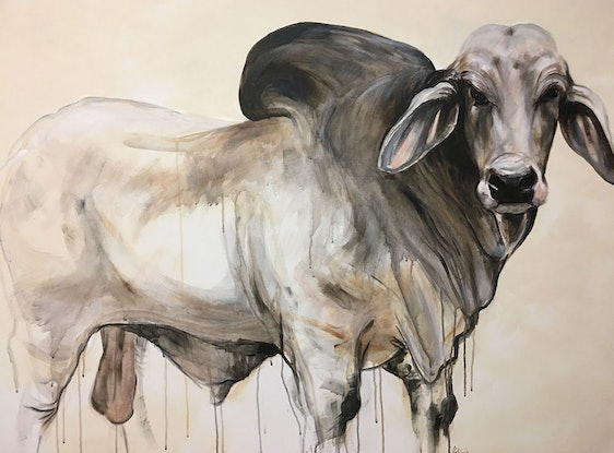 (CreativeWork) The Boss  by Emma Ward. Acrylic Paint. Shop online at Bluethumb.