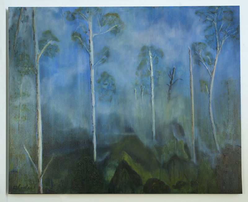 (CreativeWork) Eucalyptus Forest 6 by Robert Silverton. oil-painting. Shop online at Bluethumb.