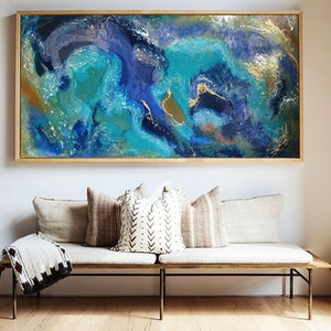 (CreativeWork) ' Rockpools ' - Ocean Series by Etre Britta. resin. Shop online at Bluethumb.