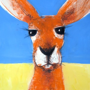 (CreativeWork) Roo 3 by John Graham. Mixed Media. Shop online at Bluethumb.