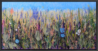 (CreativeWork) Wild Flower Meadow no3 by Adel Nemeth. mixed-media. Shop online at Bluethumb.