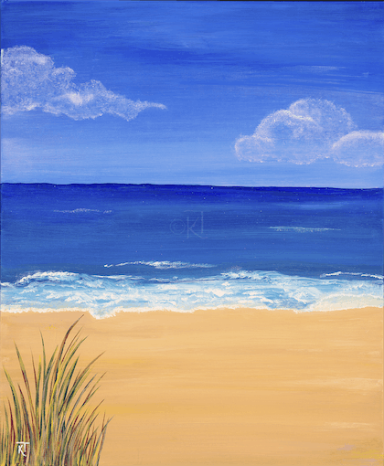 (CreativeWork) Beachscape 1 by Karen Todman. arcylic-painting. Shop online at Bluethumb.