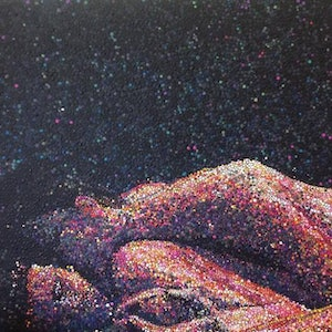 (CreativeWork) In the Dark by Yutika Donohue. arcylic-painting. Shop online at Bluethumb.