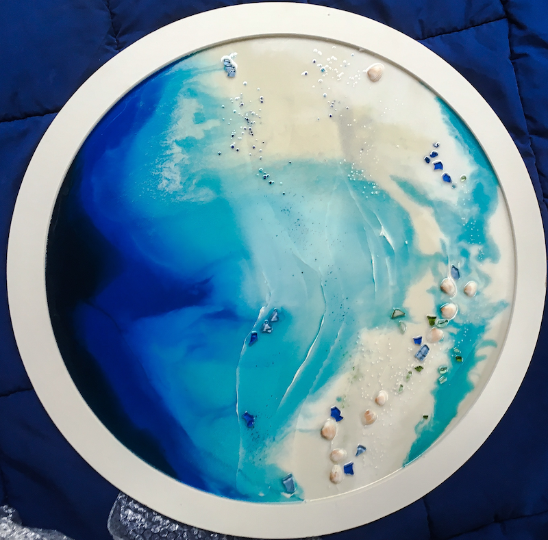 (CreativeWork) The Calm by Susan Fuss. resin. Shop online at Bluethumb.