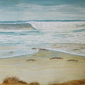 (CreativeWork) Surf to Sand 2 by Treena Seymour. mixed-media. Shop online at Bluethumb.