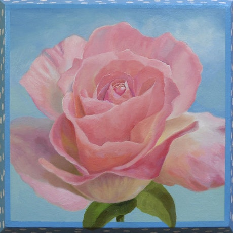 (CreativeWork) The Rose by Arthur Avetisian. Oil Paint. Shop online at Bluethumb.