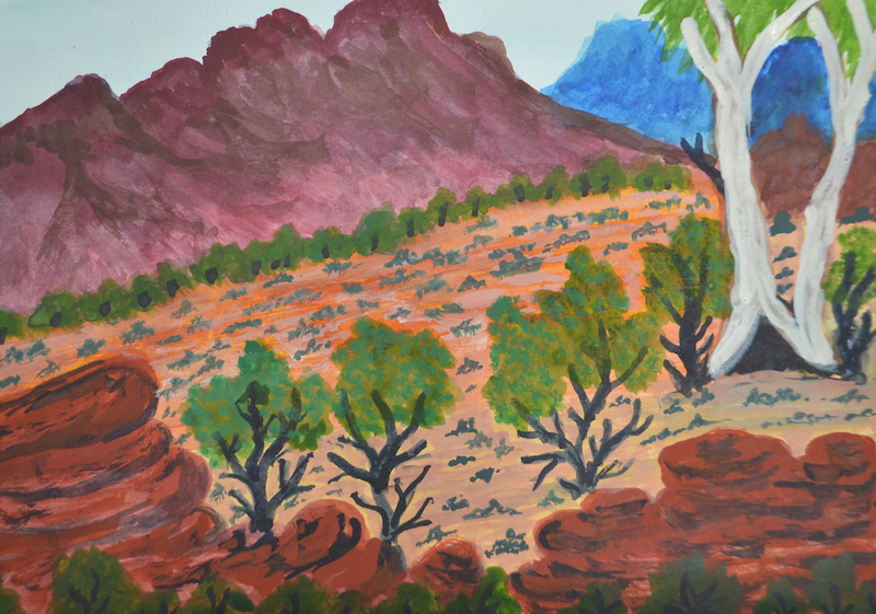 (CreativeWork) Tjuritja (West MacDonnell Ranges, NT), 313-15 by Noreen Hudson. #<Filter:0x000055611c264eb8>. Shop online at Bluethumb.