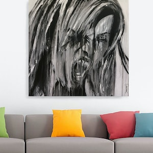 (CreativeWork) Rage by Damian Smith. arcylic-painting. Shop online at Bluethumb.