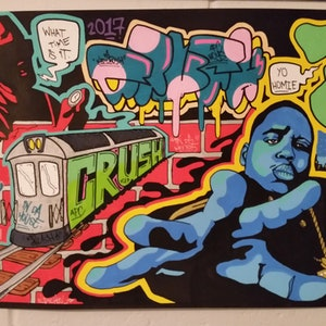 (CreativeWork) old school flashback by Kid Crush. arcylic-painting. Shop online at Bluethumb.