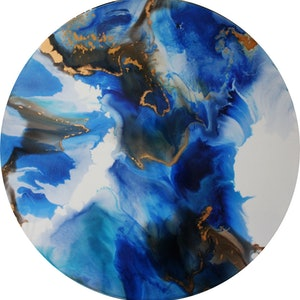 (CreativeWork) The Current by Larissa Lea. resin. Shop online at Bluethumb.