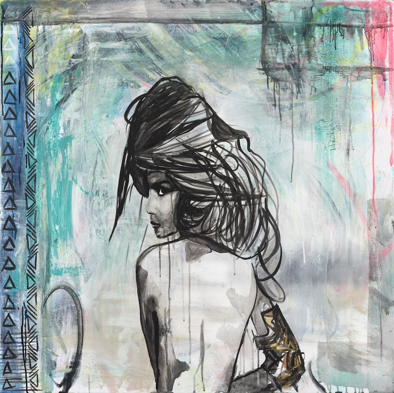 (CreativeWork) Waris  by Ilona Barac. mixed-media. Shop online at Bluethumb.