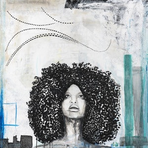 (CreativeWork) Erykah  by Ilona Barac. mixed-media. Shop online at Bluethumb.