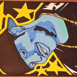 (CreativeWork) Da Homie by Kid Crush. arcylic-painting. Shop online at Bluethumb.