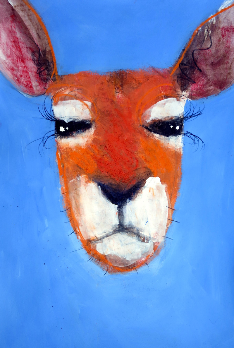 (CreativeWork) Roo 6 by John Graham. mixed-media. Shop online at Bluethumb.