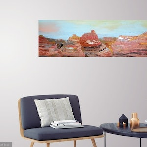 (CreativeWork) Canyon Sunlight by Nicole Hunt. arcylic-painting. Shop online at Bluethumb.