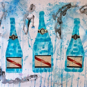 (CreativeWork) G.H. MUMM Trio by Leith Kennedy. mixed-media. Shop online at Bluethumb.